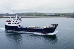 The Shapinsay ferry involved in the HyDIME project (Credit David Hibbert, Orkney Islands Council)