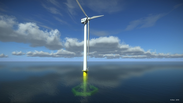 AFLOWT floating wind project (Credit SAIPEM)