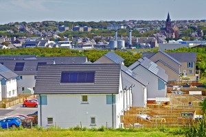 Solar panels in Kirkwall (Credit Colin Keldie, courtesy of Solo Energy)
