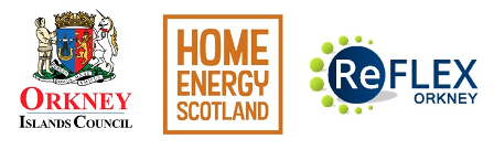 OIC, Home Energy Scotland and ReFLEX logos