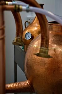 Stills inside the Orkney Distillery (Credit Orkney Distilling Ltd)