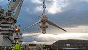 Atlantis turbine at MeyGen (Credit SIMEC Atlantis)