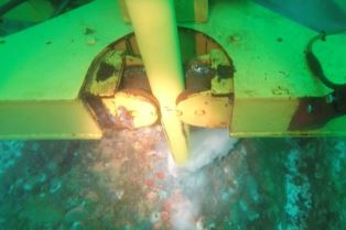 SME AROV Subsea during rock anchor install at EMEC (Credit SME)