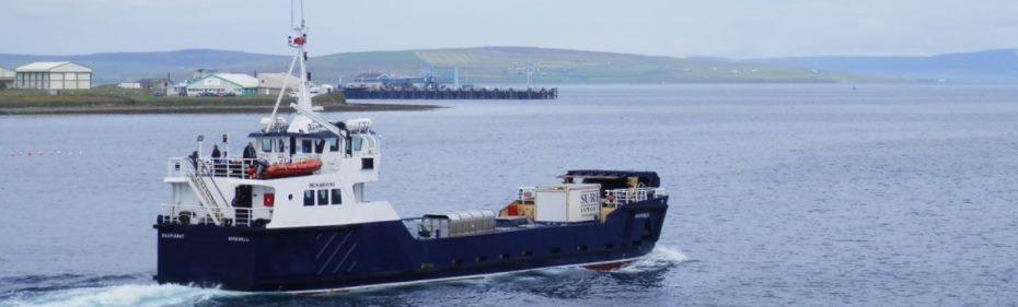 The Shapinsay vessel (Credit David Hibbert, Orkney Islands Council)