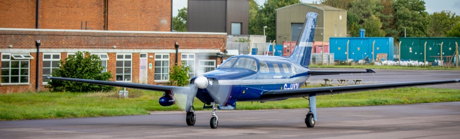 The ZeroAvia aircraft on runway preparing for the hydrogen-electric flight 930 (credit Stanton Media)