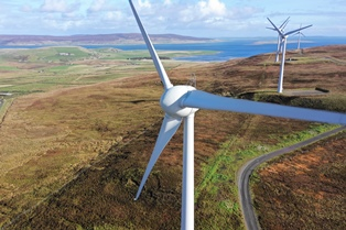 Wind turbines in Orkney (Credit Colin Keldie, courtesy of Solo Energy)