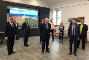 Prime Minister Boris Johnston meeting with local businesses in Stromenss, July 2020 (credit Orkney Islands Council)