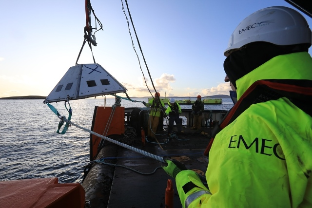 ADCP deployment at EMEC (Credit Colin Keldie, courtesy of EMEC)