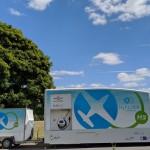 HyFlyer refuelling truck and compressor (credit FCSL)
