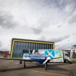EMEC's hydrogen refuelling solution supporting ZeroAvia's test flight programme at Cranfield Airport in HyFlyer I (Credit Stanton Media)