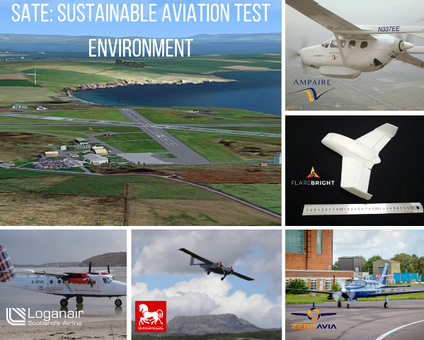 Kirkwall Airport set to be the location for a  Sustainable Aviation Test Environment (Courtesy of SATE)