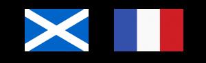 Scottish and French flag
