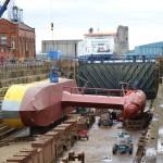 ATIR platform during maintenance at Dales Marine in Leith