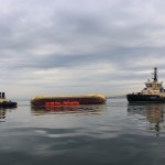 ATIR platform positioned horizontally in sea, using a system of buoys