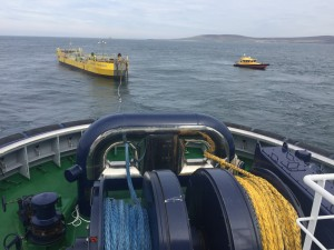 ATIR installation at Fall of Warness, view from Thor tug (copyright Orkney Harbour Authority)