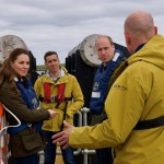 Andrew Scott and Dan Wise from Orbital Marine Power introduce the Duke and Duchess to the O2 tidal turbine (Credit Kensington Palace)