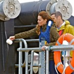 Duchess of Cambridge christening the Orkney O2 tidal turbine (Credit Colin Keldie)