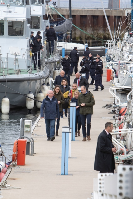 Duke and Duchess with Neil Kermode and Eileen Linklater from EMEC (Credit Colin Keldie)