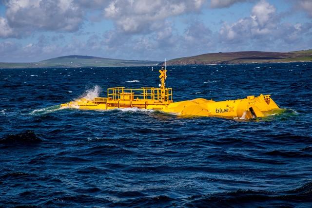 Mocean Energy Blue X in operation at at EMEC Scapa Flow wave energy test site  (credit Colin Keldie)