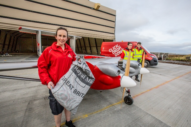 Royal Mail team up with Windracers to deliver mail to North Ronaldsay by drone (Credit Colin Keldie, Courtesy of SATE)
